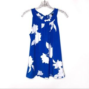 Cynthia Rowley Blue White Sleeveless Top Size S